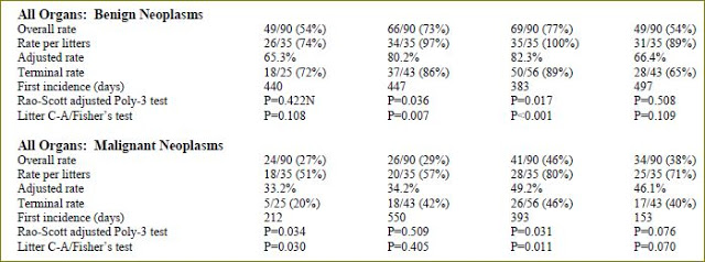 CDMA male rats final overall tumor rates