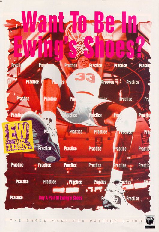 check out b17c7 9c8f0 ... todos los tiempos, no tuvo el éxito esperado, y Ewing acabó jugando con  Nike al final de su carrera deportiva. En 2012, la marca se volvió a  relanzar.