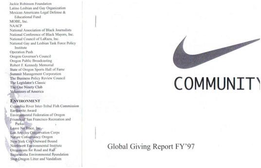 buy online 49268 05f8f De este modo, comenzaba la década más convulsa de Nike, los 90, donde la  compañía trató de mitigar las críticas de activistas a través de,  sencillamente, ...